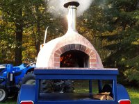 wood, wood fired, pizza oven, pizza trailer