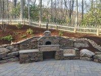 outdoor, outdoor kitchen, pizza oven, outdoor pizza oven, forno bravo, wood fired, wood fired oven