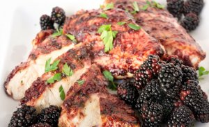 BBQ Chicken-blackberries