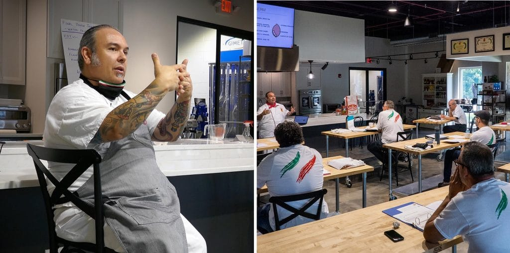 bi-pic of chef teaching and students learning