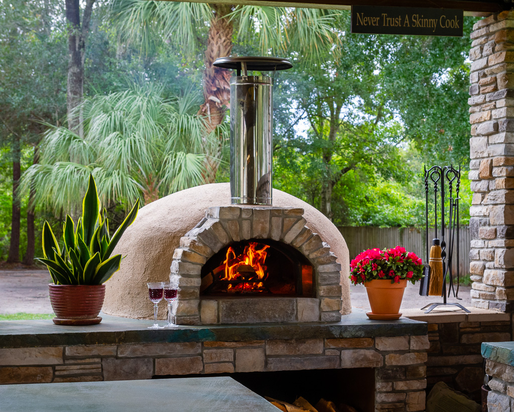 pizza oven-fire