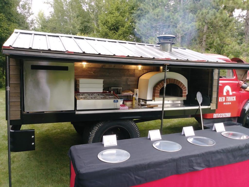viaggio pizza oven in a food truck