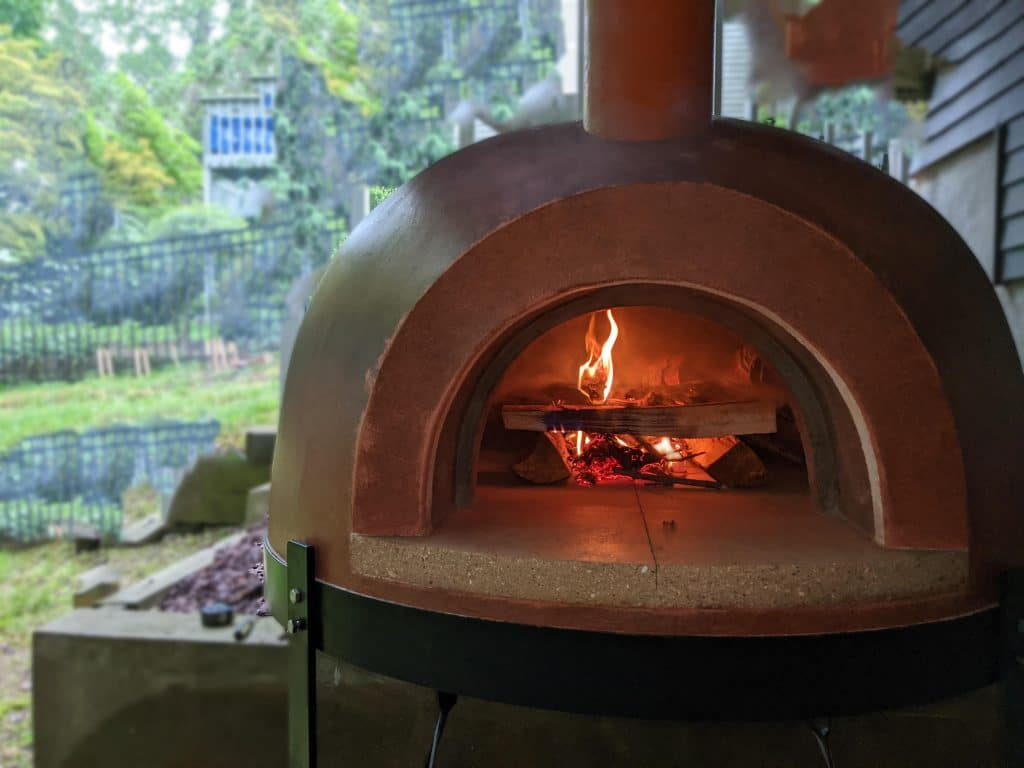 Primavera wood fired oven-fire