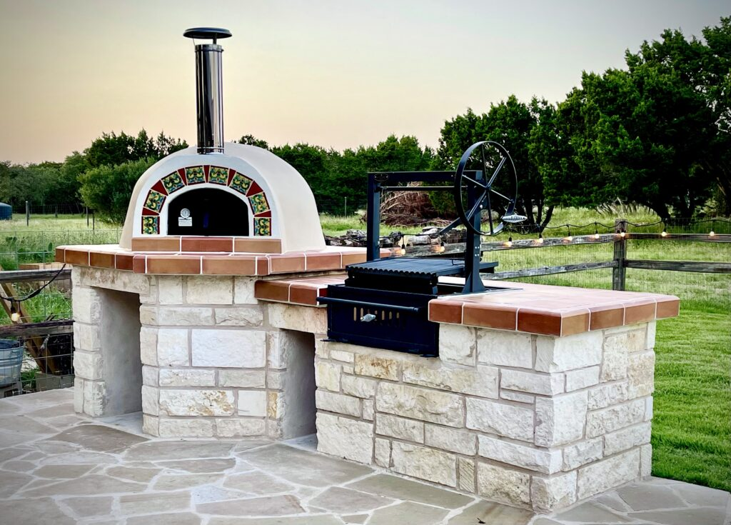 Pizza oven-argentinia grill-terracotta counters